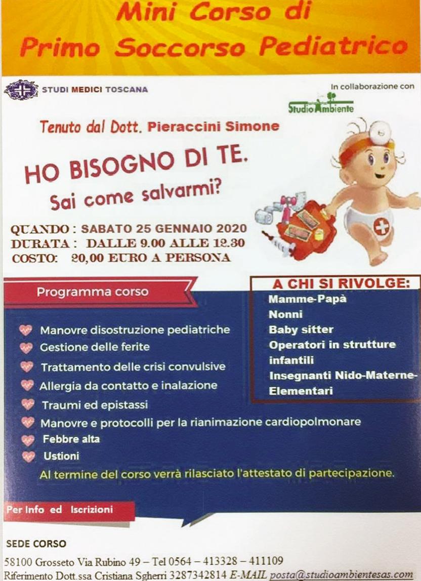 Mini Corso di Primo Soccorso Pediatrico